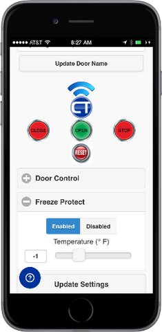 Automatic Chicken Coop Door Internet Wi-Fi Module Web App - Freeze Protect Settings