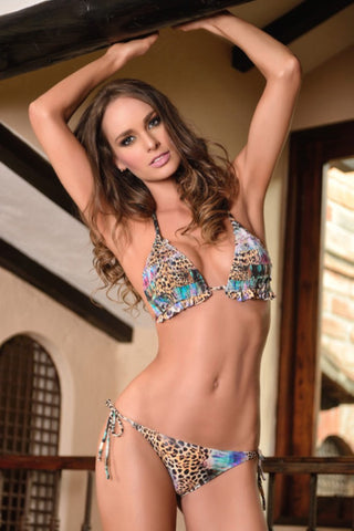 Manglar Swimwear | Leopard Triangle Top