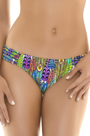 Green Feathers Bottom with Bandeau Tops | Manglar Swimwear | Swimme Bouique Miami