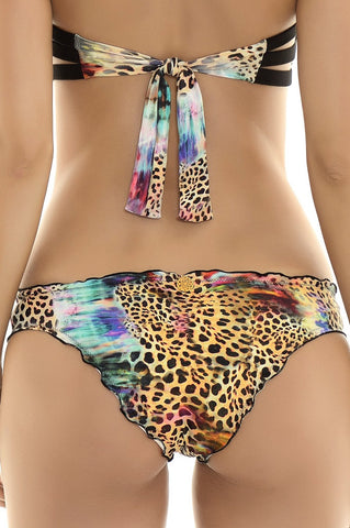 Leopard Bandeau Bikinis Bottom from Manglar Collection | Swimme Boutique Miami