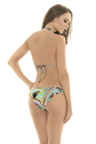 Color Chromatic Halter Top w/ Bottom-Manglar Swimwear | Swimme Boutique Miami