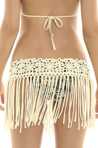 Midnight Lace Skirt Cover Up from Manglar Swimwear Collection | Swimme Beach swimwear boutique