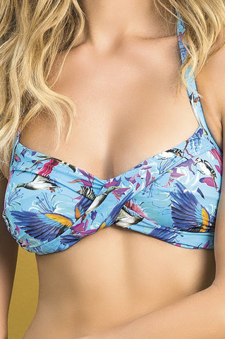 Baudo Parrot Top with Bralette Bikini Top - Saha Swimwear | Swimme Boutique
