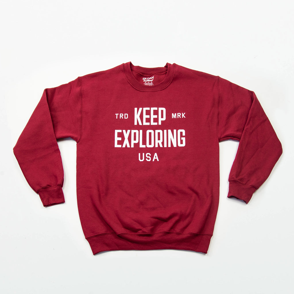 Keep Exploring Trademark Crewneck