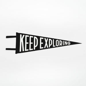 Keep Exploring Pennant (Black)