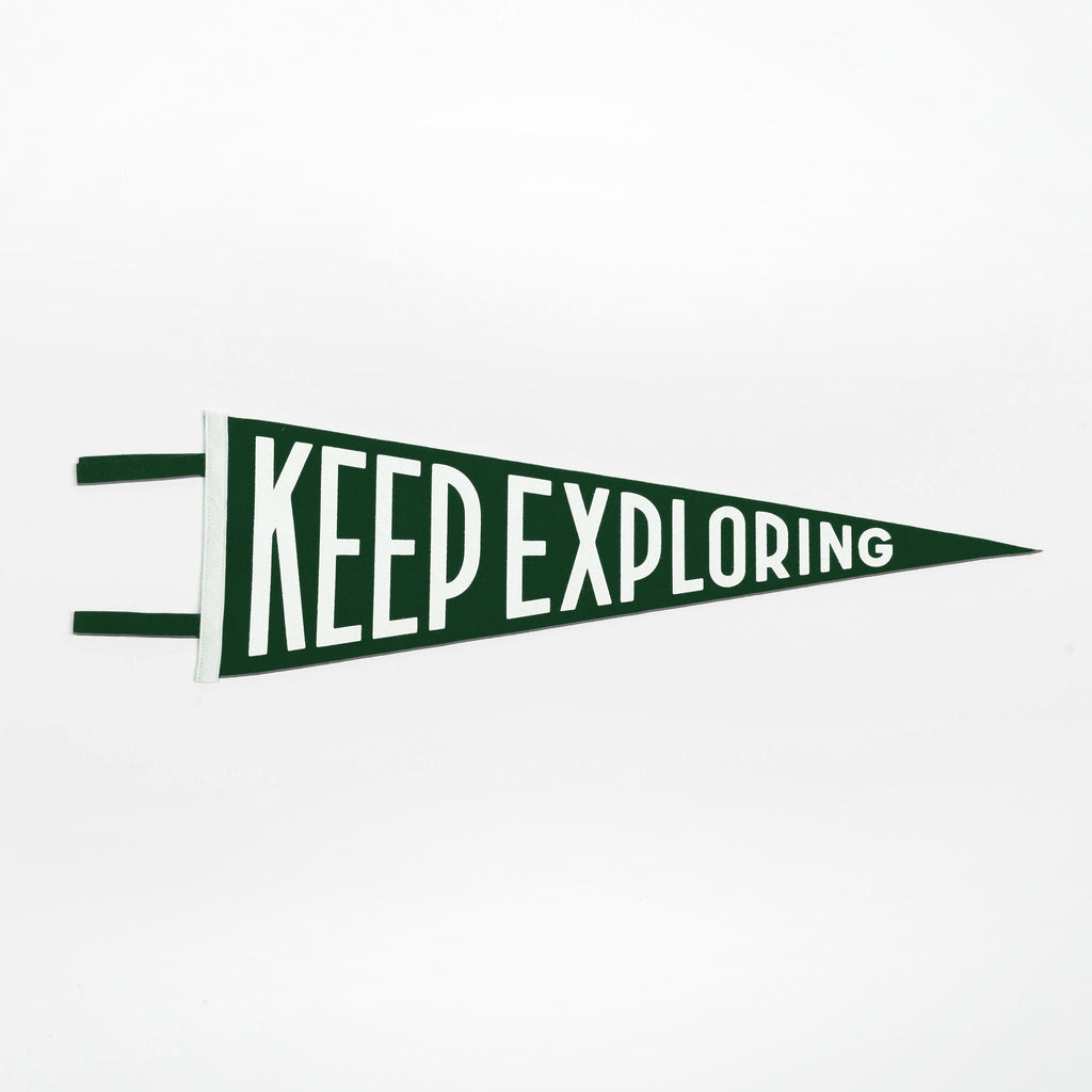 Keep Exploring Pennant (Green)