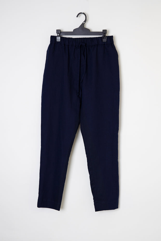 Load image into Gallery viewer, Kelly linen pant navy blue linen