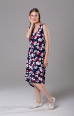 Greta dress - Navy floral