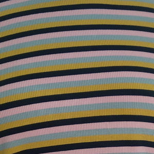 Essential rib polo - Pink multi stripe