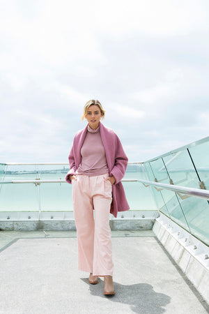 Stevie wide leg pant - Pale pink