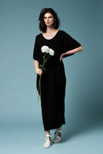 Jane Dress - Maxi length black