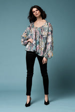Monet top - Floral or black silk/cotton