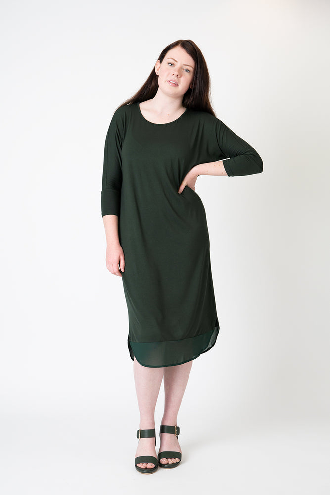 Lucy dress forest green