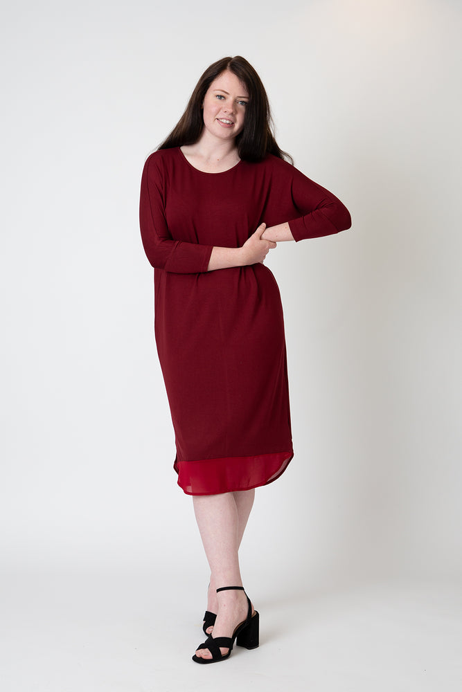 Lucy dress deep red