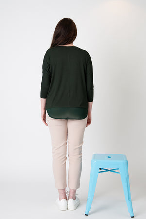 Lucy top forest green