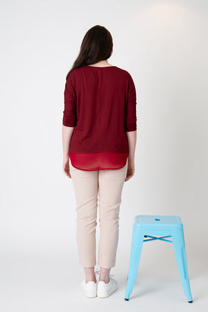 Lucy top deep red