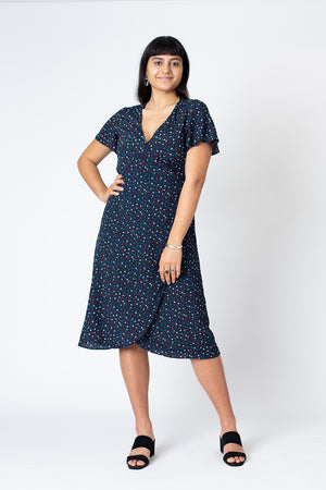 Amy wrap dress - Star confetti
