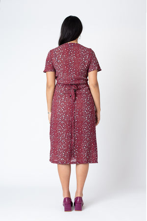Amy wrap dress huntress print