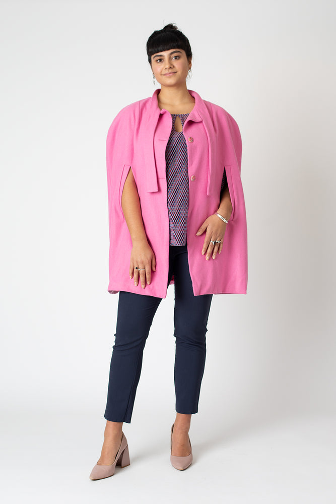 Nina cape - Candy pink