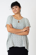 Keyhole Colette top - dalmation