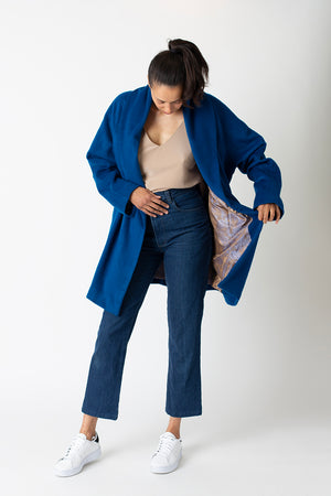 Spring Carol coat - Peacock blue Wool/Cashmere