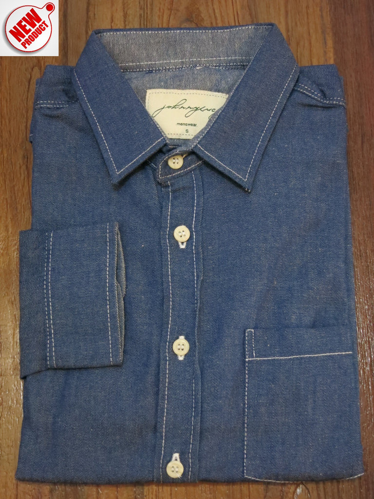DARK-WASH DENIM SHIRT