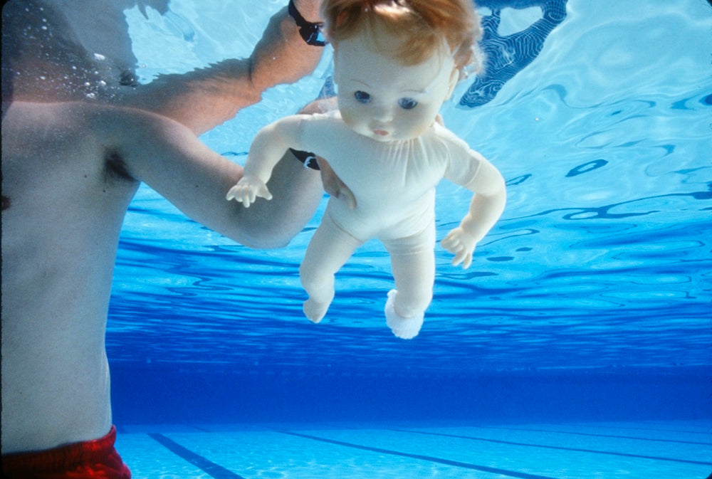 Nirvana Nevermind cover baby stunt double, 1991 by Kirk Weddle