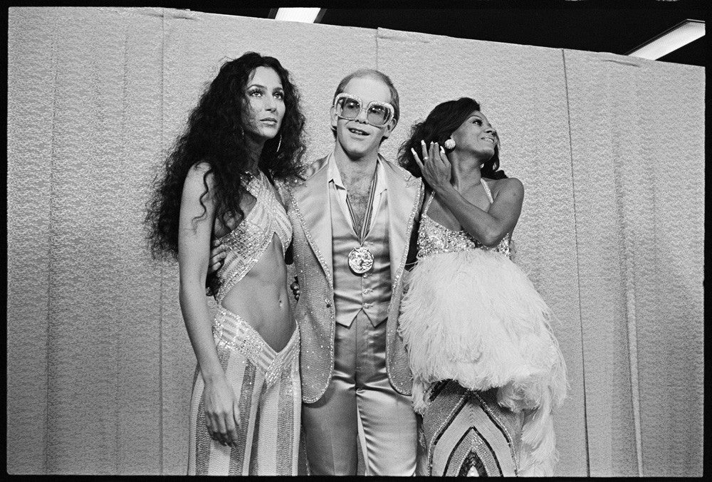 Cher, Elton John and Diana Ross, Santa Monica, 1975 by Mark Sullivan