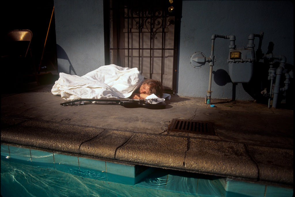 Kurt Cobain of Nirvana, Nevermind Sleeping, 1991 by Kirk Weddle
