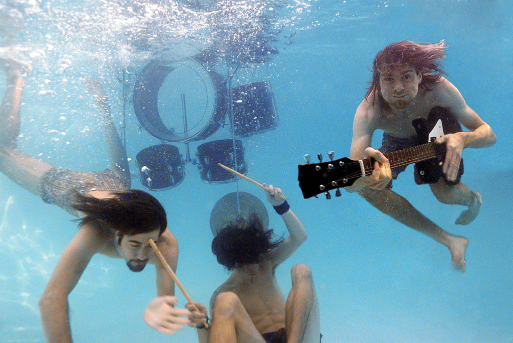 Nirvana Nevermind, Underwater 1991 by Kirk Weddle
