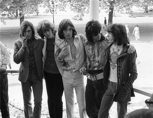The Rolling Stones, Hyde Park London 1969 by Barrie Wentzell