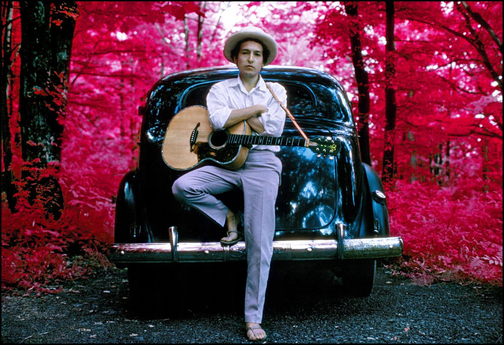 Bob Dylan, Infrared, Woodstock NY 1968 by Elliott Landy