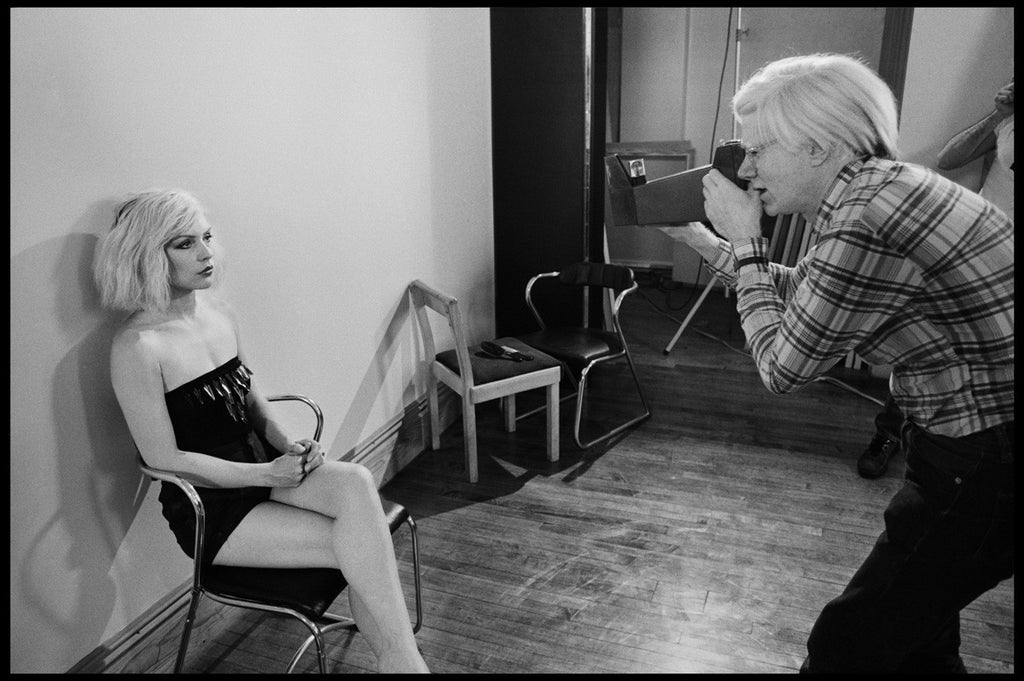 Andy Warhol photographs Debbie Harry at The Factory by Chris Stein