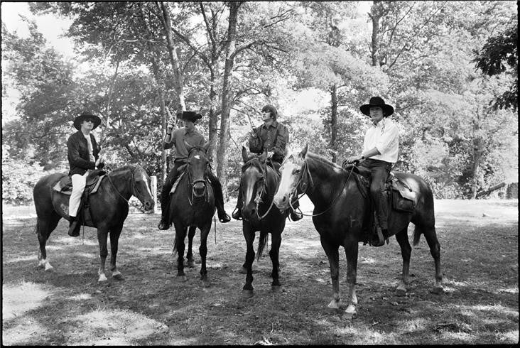 The Beatles on horseback, 1964 by Curt Gunther