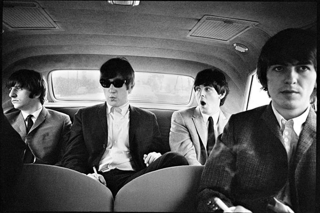 The Beatles in Limo, 1964 by Curt Gunther