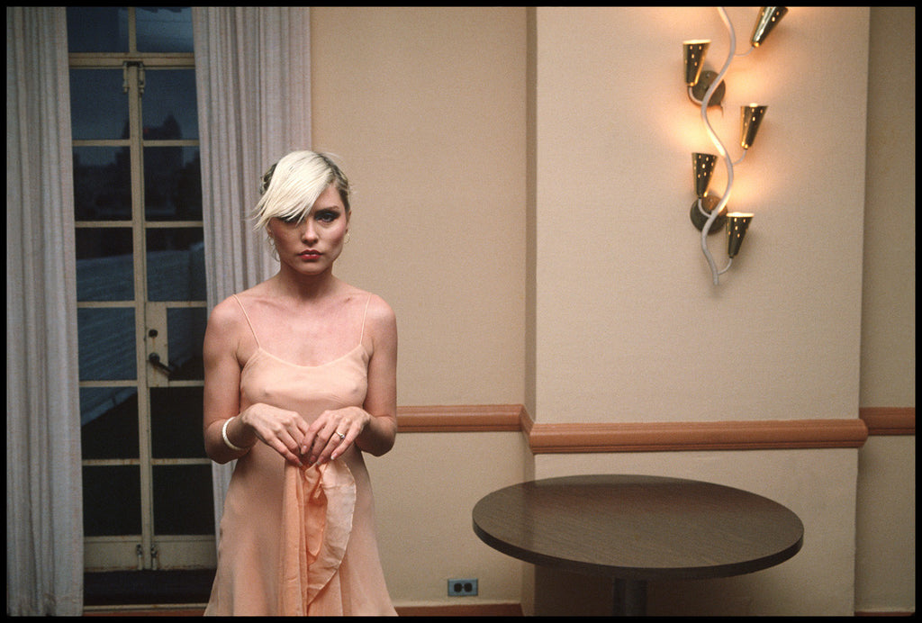 Debbie Harry, Pink Dress by Chris Stein