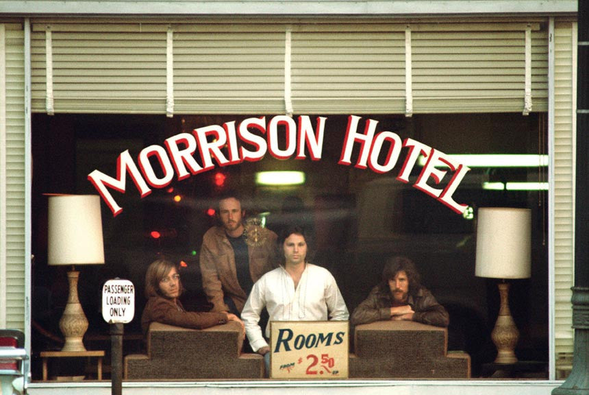 The Doors, Morrison Hotel Album Cover 1969 by Henry Diltz
