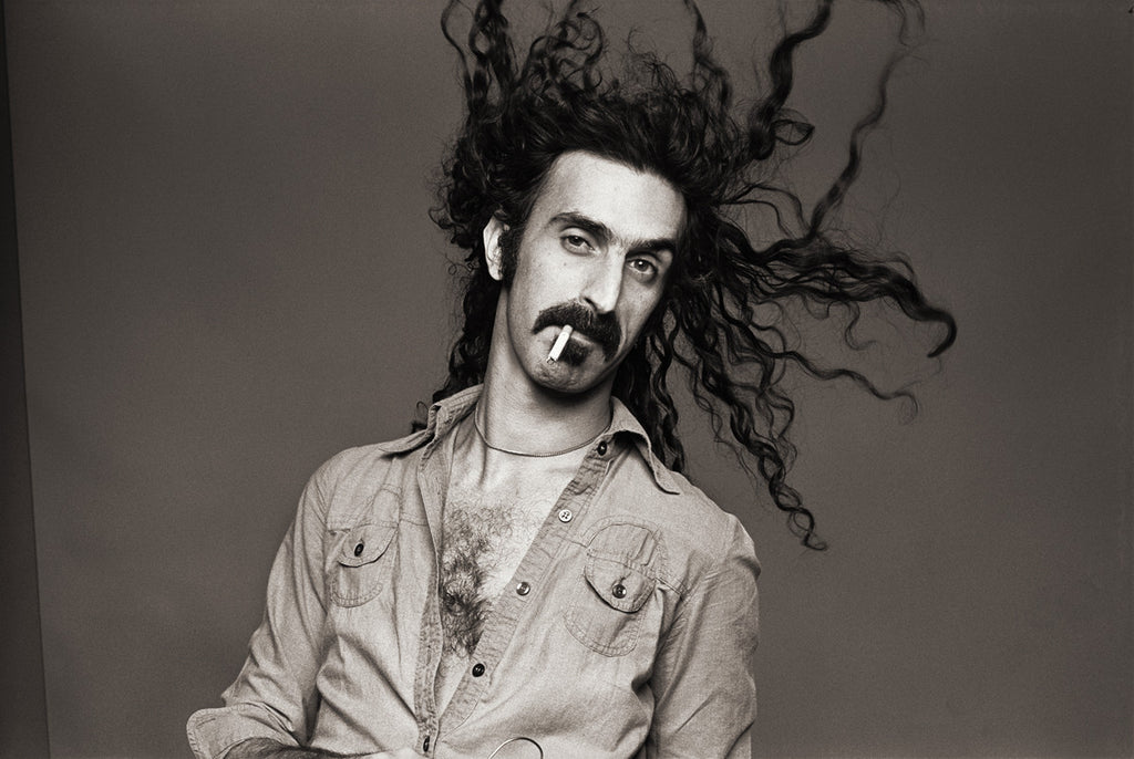 "Frank Zappa, Los Angeles 1976, ""Flying Hair"" by Norman Seeff"