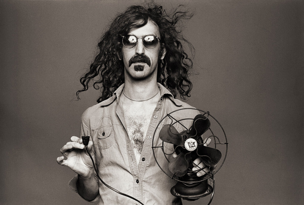 "Frank Zappa, Los Angeles 1976, ""Frank with Fan"" by Norman Seeff"