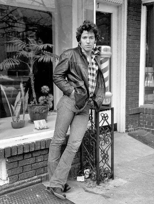 Bruce Springsteen, Frank's Barber Shop by Frank Stefanko