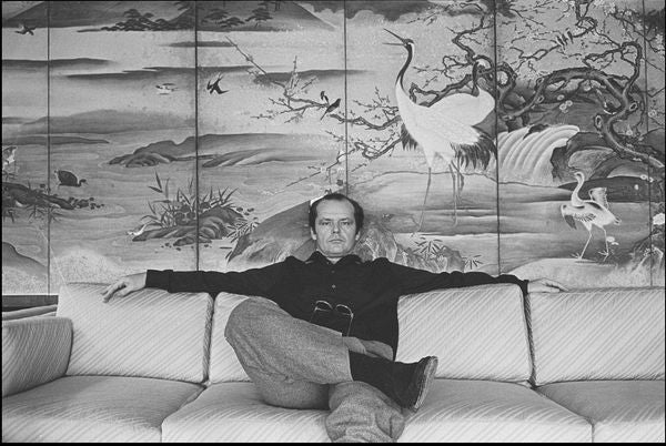 Jack Nicholson at the Carlyle Hotel, NYC 1981 by Allan Tannenbaum