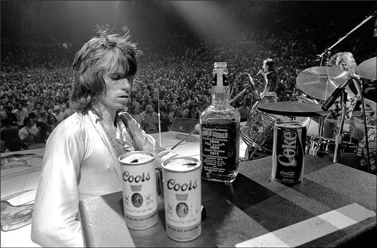 Keith Richards with Jack and Coors, 1972 by Ethan Russell