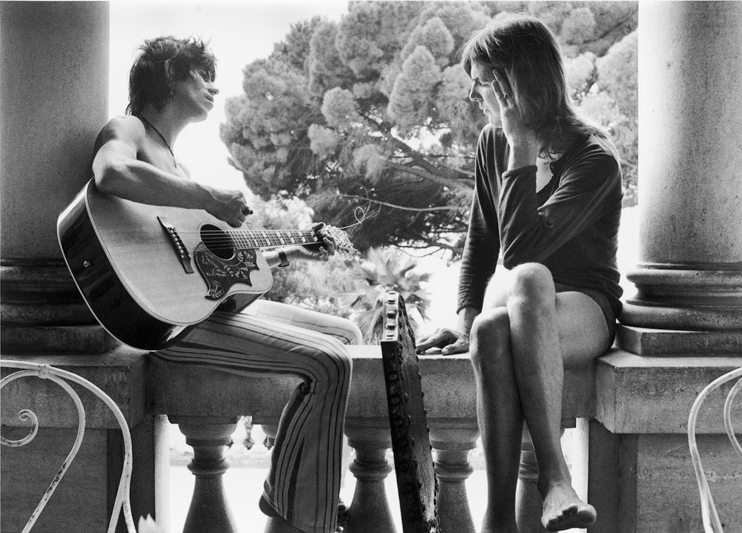 Keith Richards & Gram Parsons Verandah by Dominique Tarle