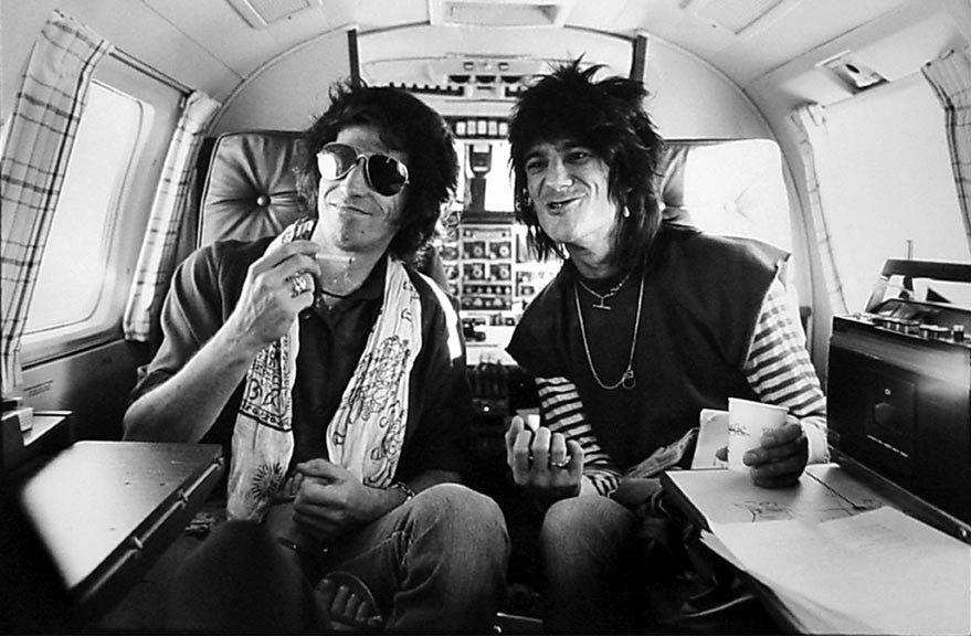 Keith Richards and Ron Wood, Los Angeles, CA, 1979 by Henry Diltz