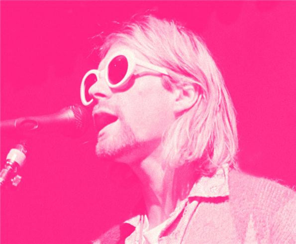 Kurt Cobain, Singing Pink 1993 by Jesse Frohman