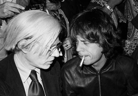 Mick Jagger & Andy Warhol by Lynn Goldsmith