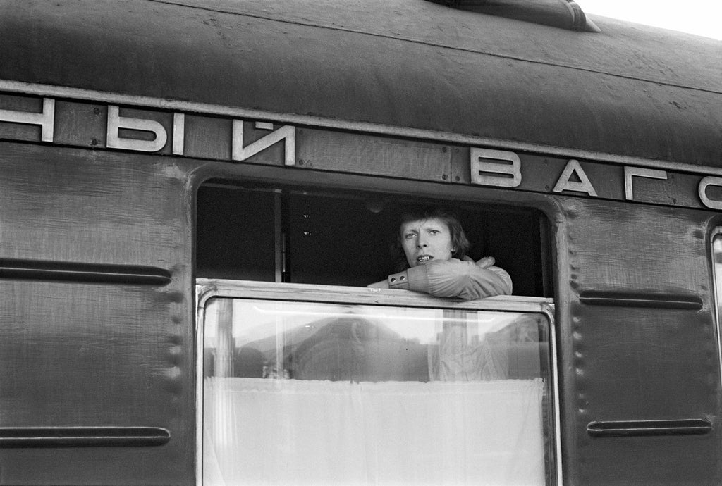 David Bowie: In front of The Trans Siberian by Geoff MacCormack