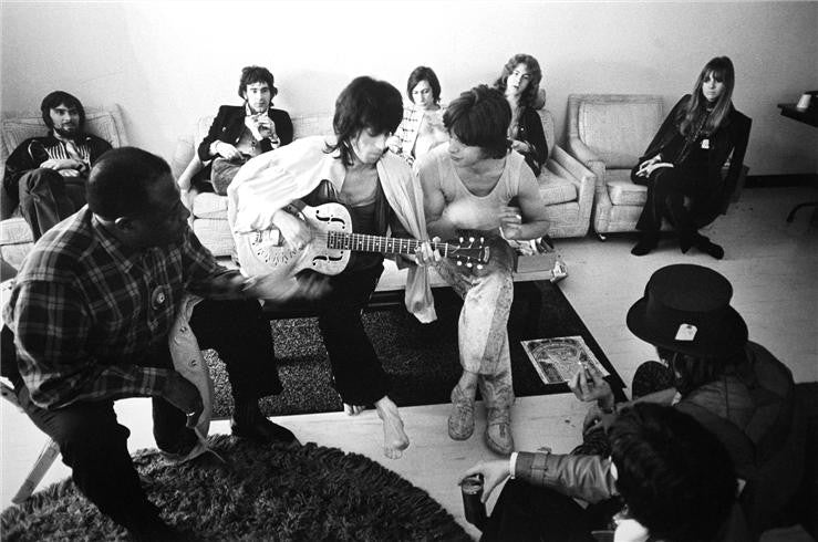 The Rolling Stones & Friends backstage, 1969 by Ethan Russell