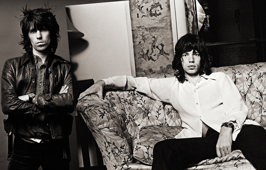 "Keith Richards & Mick Jagger, Los Angeles 1972, ""Sessions Spread"" by Norman Seeff"