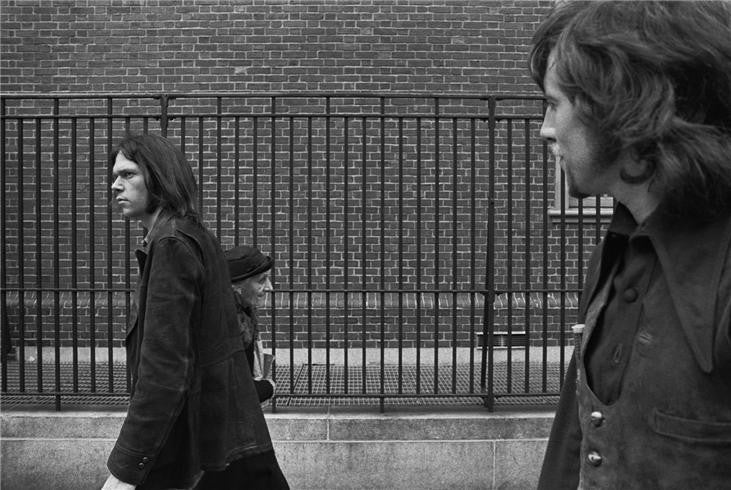 Neil Young & Graham Nash, New York, NY 1970 by Joel Bernstein